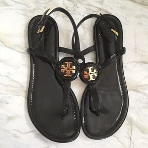 Tory Burch Dillan Patent Leather Strappy Sandals